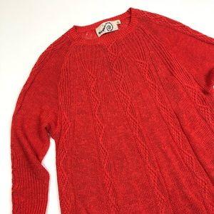 Anthropologie Rosie Neira coral knit sweater